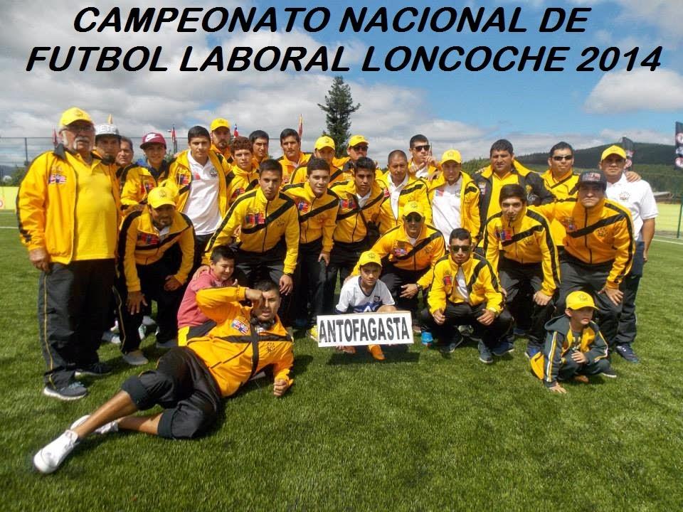 CAMPEONATO NACIONAL DE FUTBOL LABORAL LONCOCHE 2014
