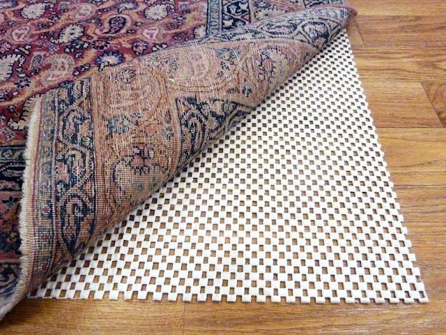 wooden floor rug pad