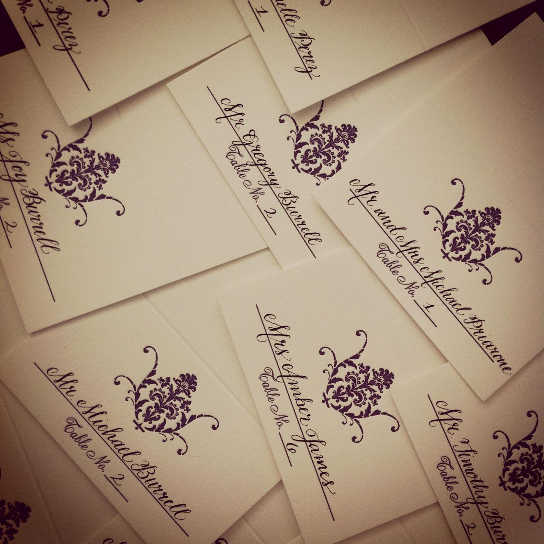 Joie De Vivre Calligraphy Wedding Escort Cards Favorites