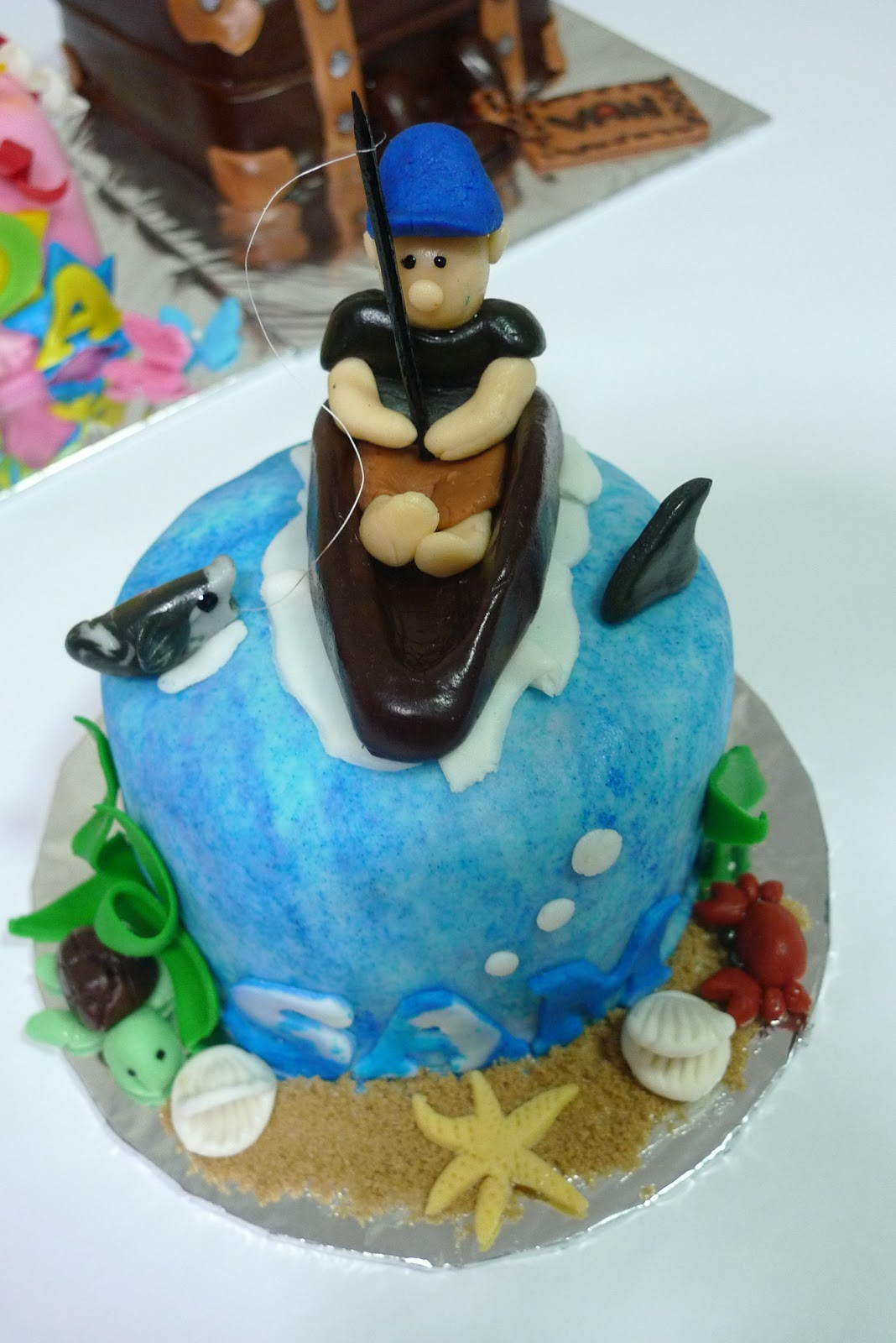Sherbakes fishing themed cake for Fishing themed cakes
