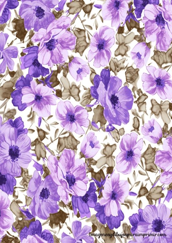 papel con flores para imprimir