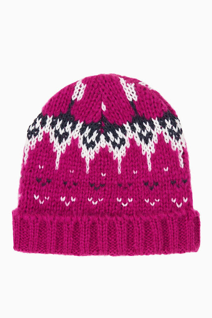 pink fairisle hat
