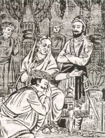 Image result for Shivaji and JIjabai sketch