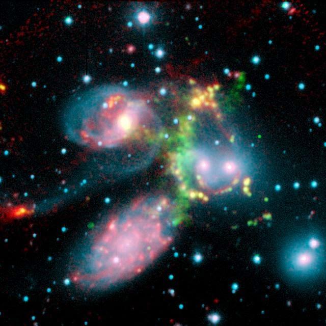 http://en.wikipedia.org/wiki/Stephan%27s_Quintet#mediaviewer/File:Stephans_Quintet_cutout.jpg