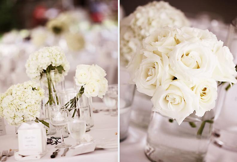 decoracao branca casamento:Vestida de Branco: Segunda-feira florida: Casamento com rosas brancas