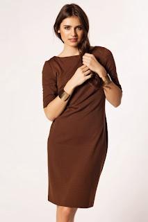 kahverangi elbise modeli