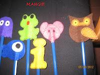 Muñecos para decorar los lápices en fieltro