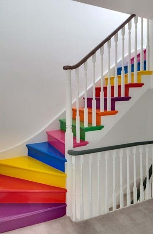 Best Rainbow Color Stairs Inspiration Pinterest 400 x 300