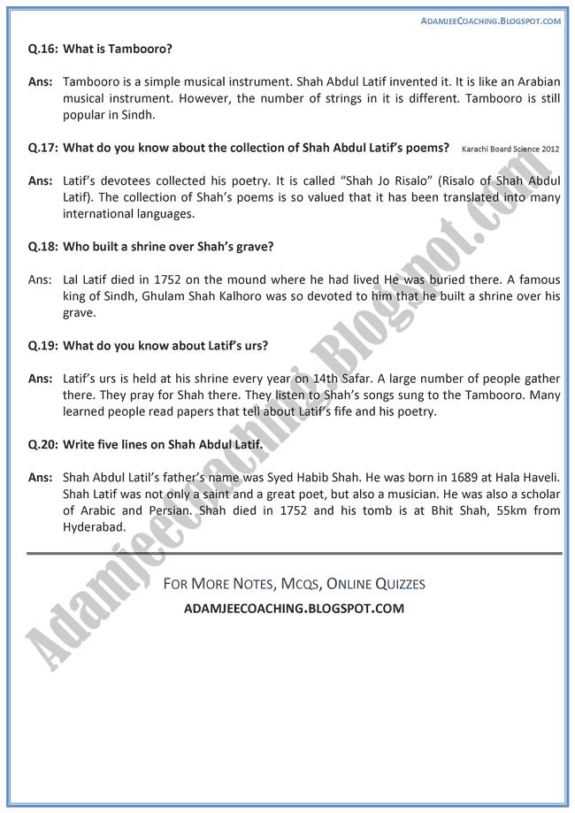 Shah-Abdul-Latif-MCQs-English-IX