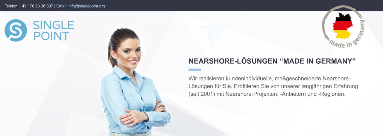 "Singlepoint - Nearshore Softwareentwicklung ""made in Germany"""