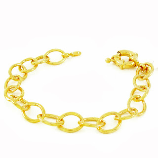 pulseira folheada a ouro
