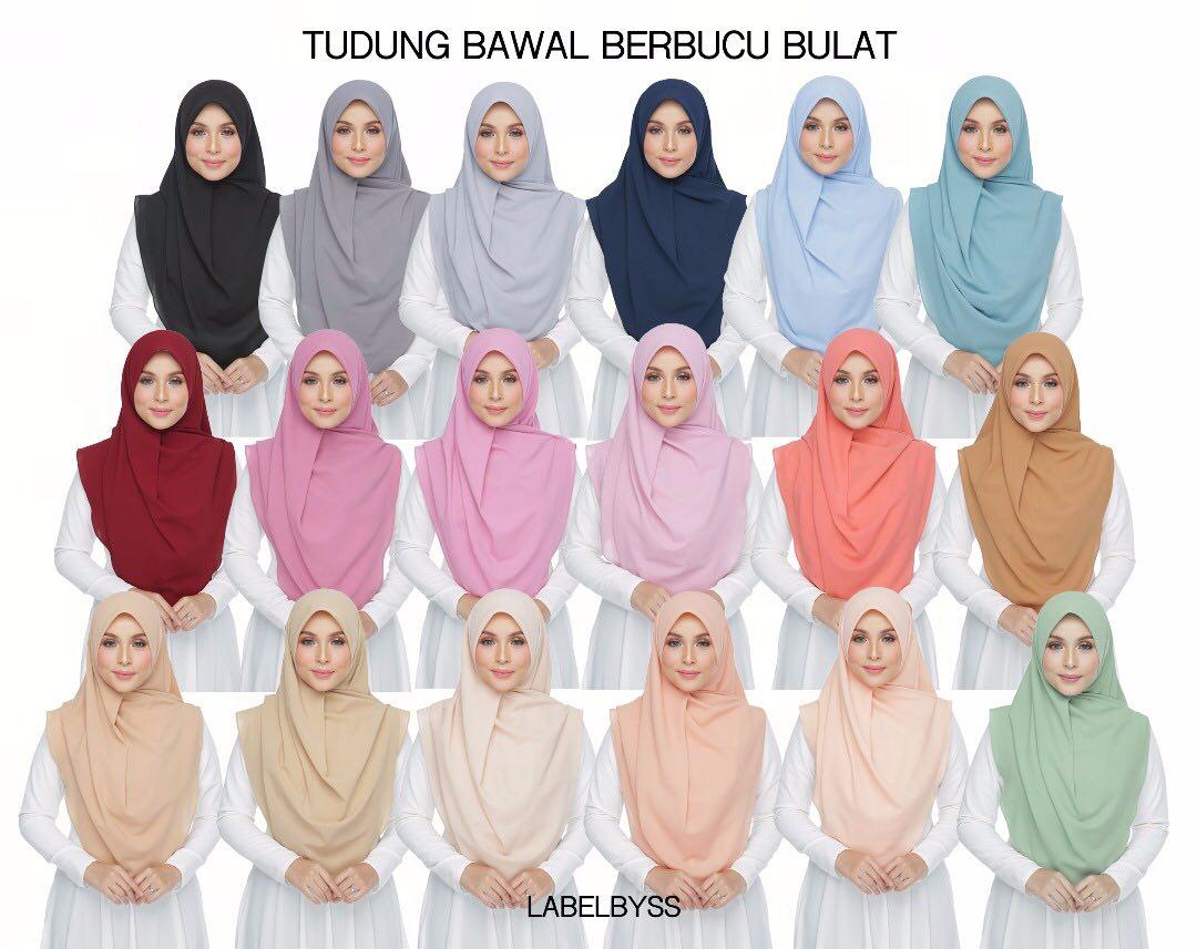 Tudung Bawal pilihan ramai kini dengan warna warna lebih menawan