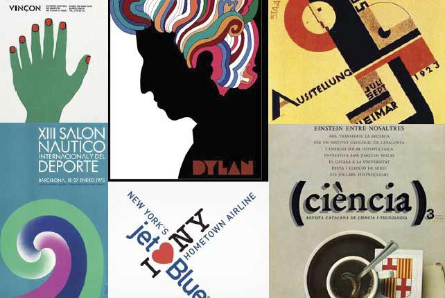 Fragments de projectes d'Amèrica Sánchez, Milton Glaser, Moholy Nagy, Enric Huguet i Enric Satué.
