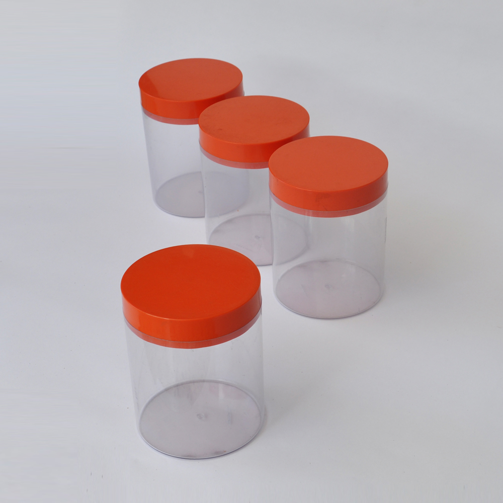 Retro Kitchen Canisters Orange Kitchen Canisters Kitchen Color Ideas Grey Cabinets