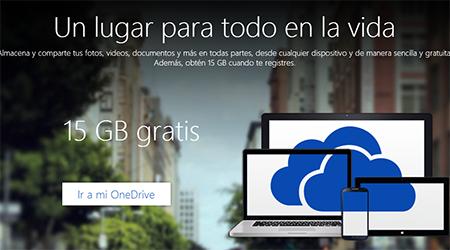 OneDrive Outlook ahora 15 GB gratis de almacenamiento
