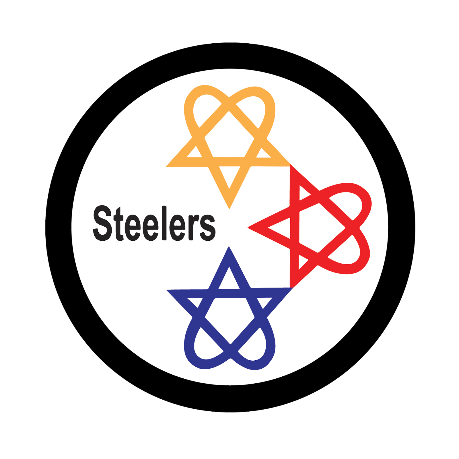 Pittsburgh Steelers, metal, logo, re-imagined
