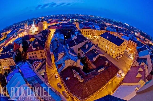 Lublin. Panorama miasta z Wieży Trynitarskiej.