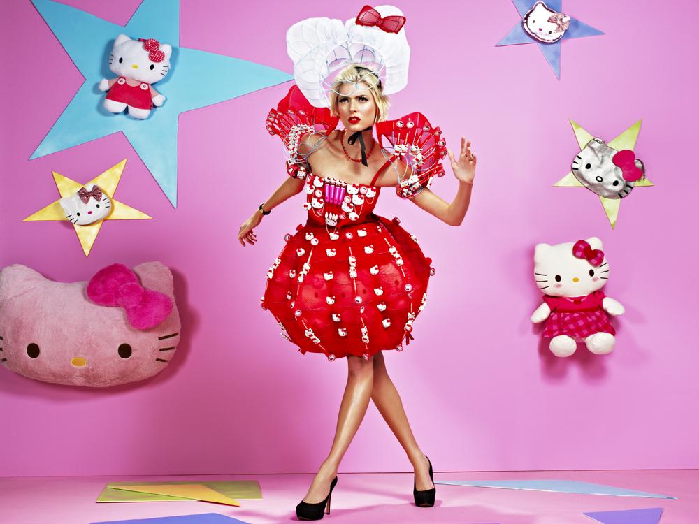 Next top model blog antm c18 hello kitty couture - Modele hello kitty ...