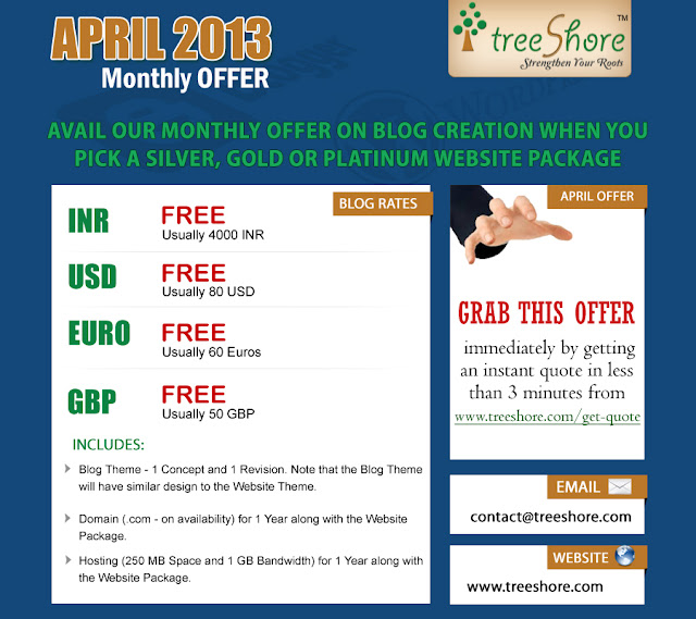 Blog Creation Offer - TreeShore