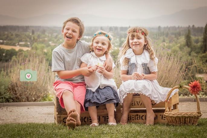 sesion al aire libre con niños y en familia