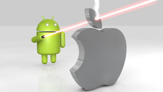 Android Sending Laser On Apple