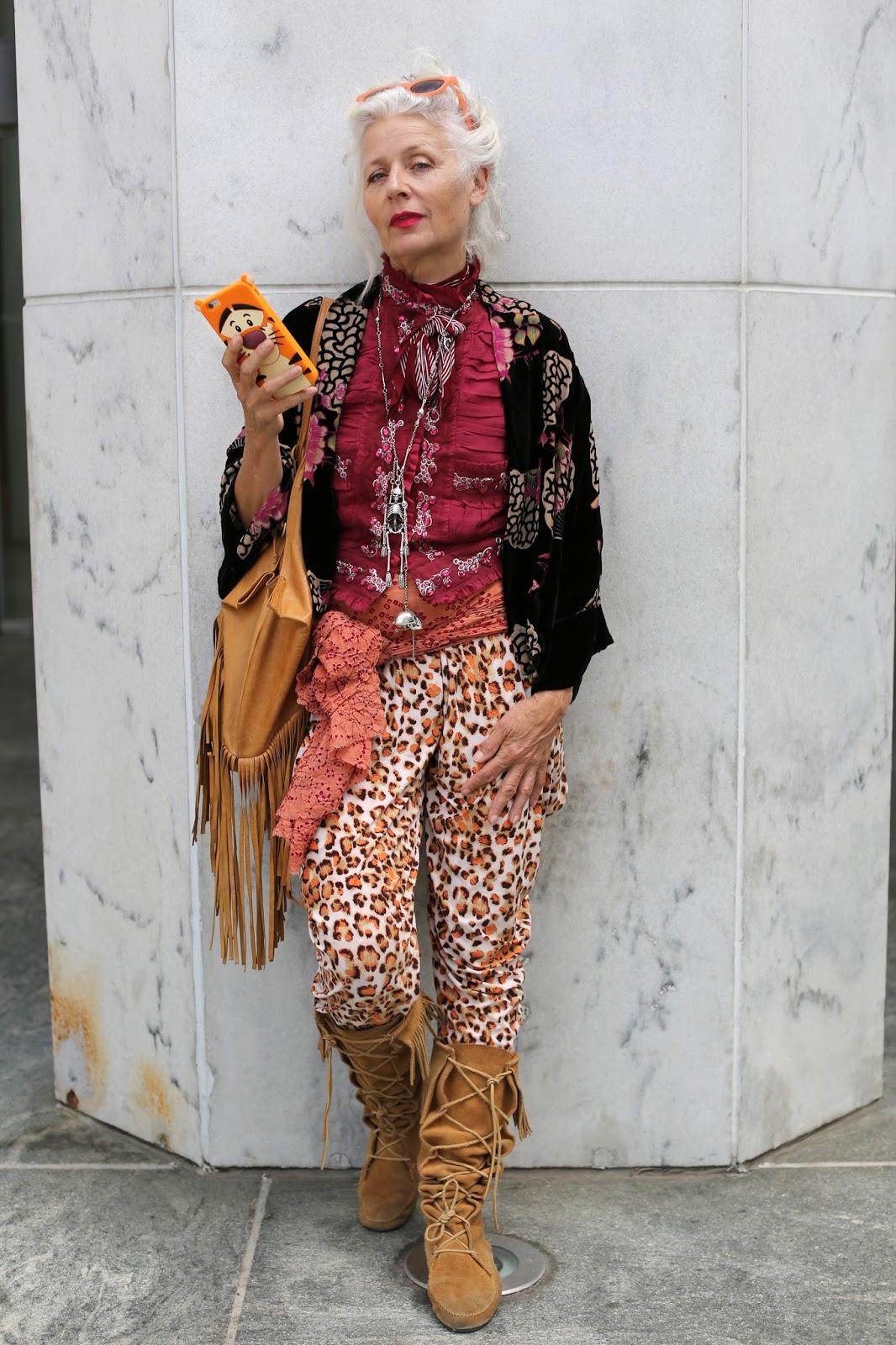 Streetstyle cực chất của những fashionista bô lão ảnh 16
