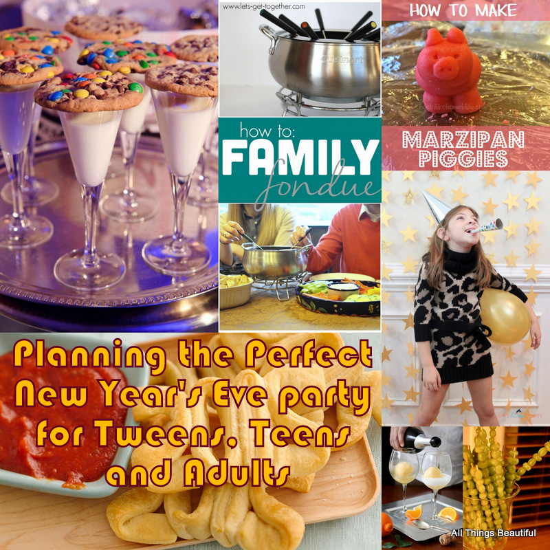 Below are a few suggestions to help you and your tween plan a great New Year's Party for preteens. Offer Fun Party Favors Party favors can make a party, and New Year's Eve decorations are easy to come by and fairly inexpensive.