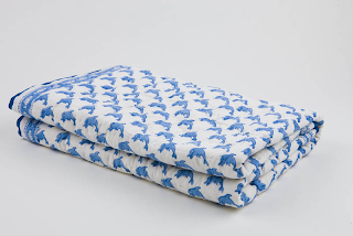 Moochic Baby | Nursery Bedding | Blue Dolphin Blanket