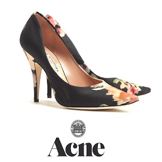 Princess Victoria -  ACNE Floral Nova Shoes