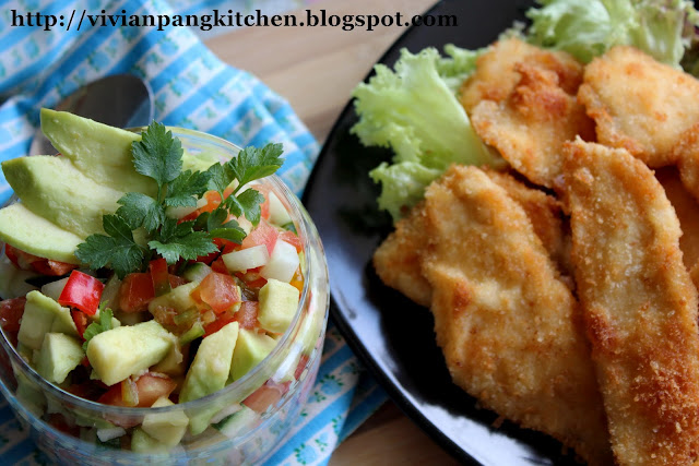 Vivian Pang Kitchen: Avocado Mexican Salsa with Crispy Chicken