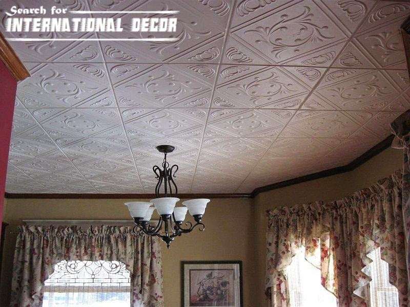 Decorative Ceiling Tiles With Original Designs And Types Interior