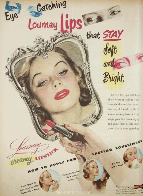 1950s Lournay lipstick ad 1952