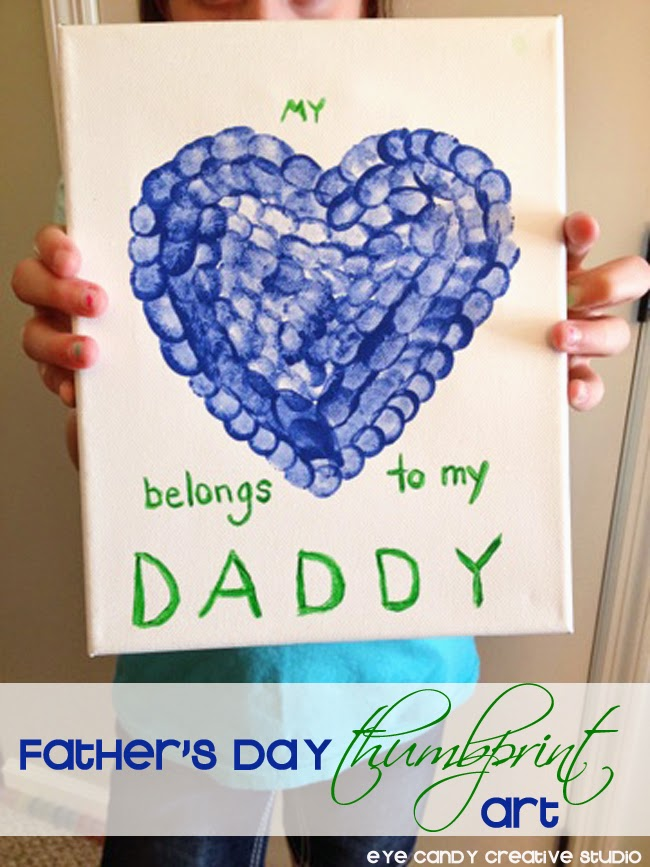 fathers day gifts, kid craft, thumbprint art, fathers day gift ideas from kids