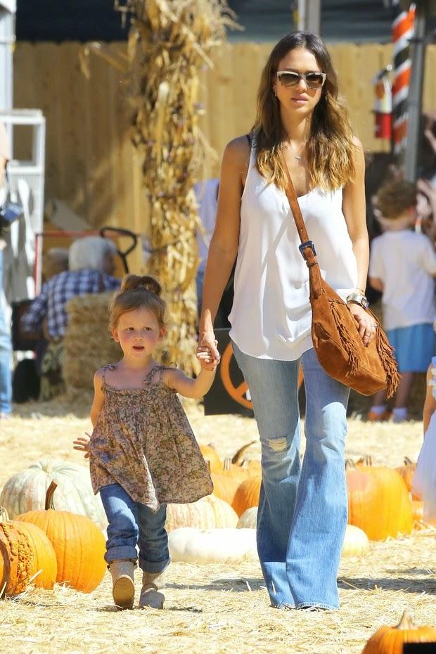 Jessica Alba com a filha Haven