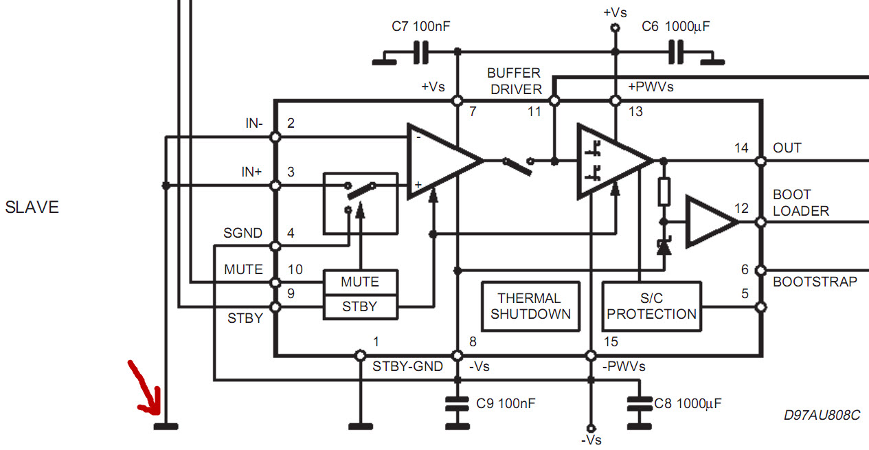 Custom Pcb For Diy Electronics December 2011 Circuit Dynamic Power Amplifier With Ic Dmos Tda7294 Bridge In The New Datasheet From 2003 This Is Changed To Voltage
