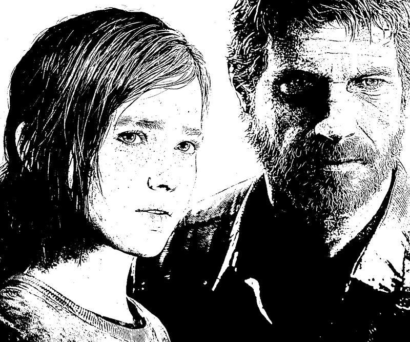 last-of-us-ellie-joel-coloring-pages