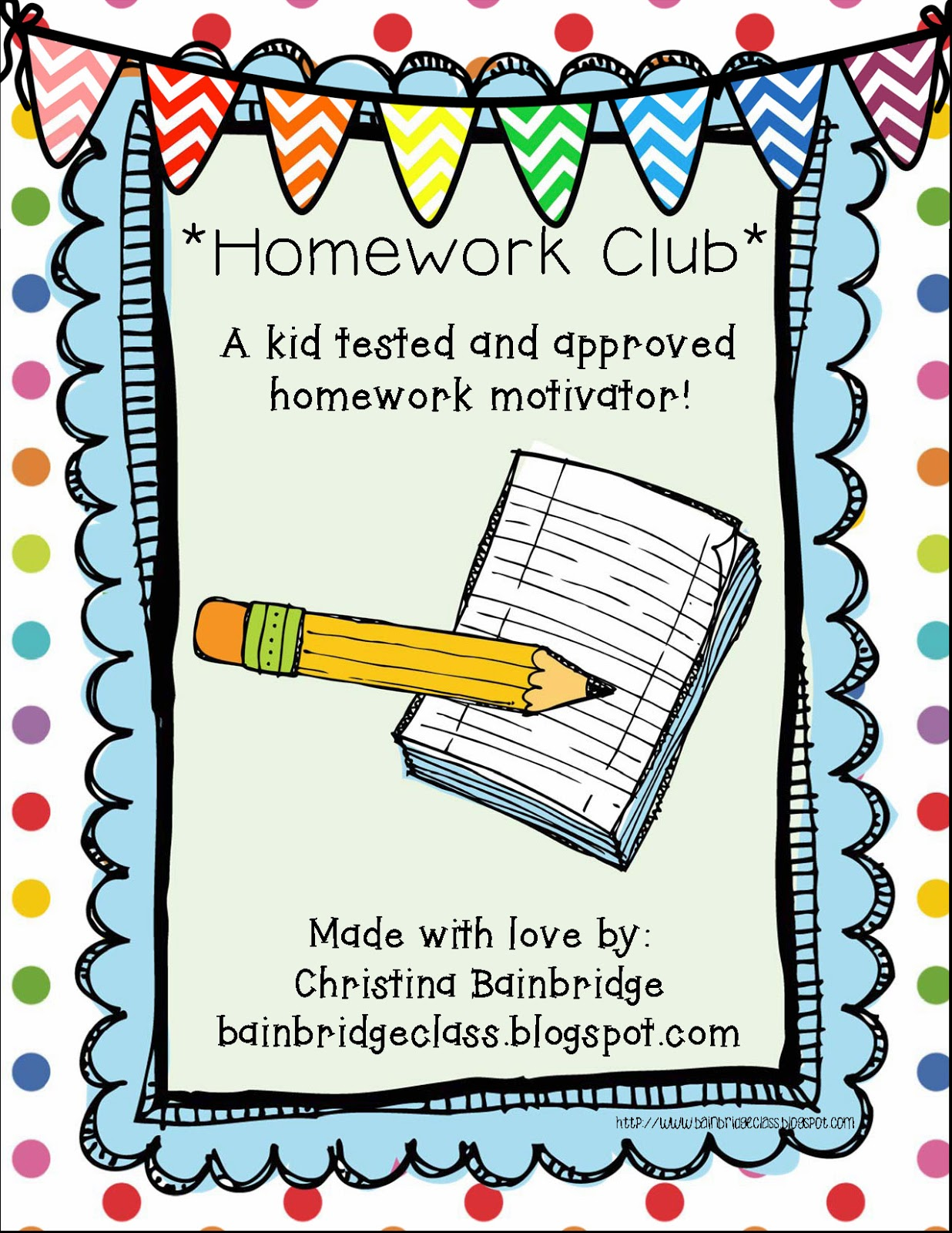 Homework Book Cover Template ~ Bunting books and bright ideas back to school sale