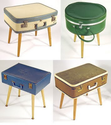 They Double As An End Table And Storage For Remote Controls, Magazines And  Books. This Is A Really Easy Project: Just Add 4 Legs To Your Vintage  Suitcase.