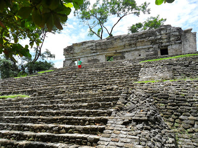 Part of the Northern Group at Palenque in Mexico