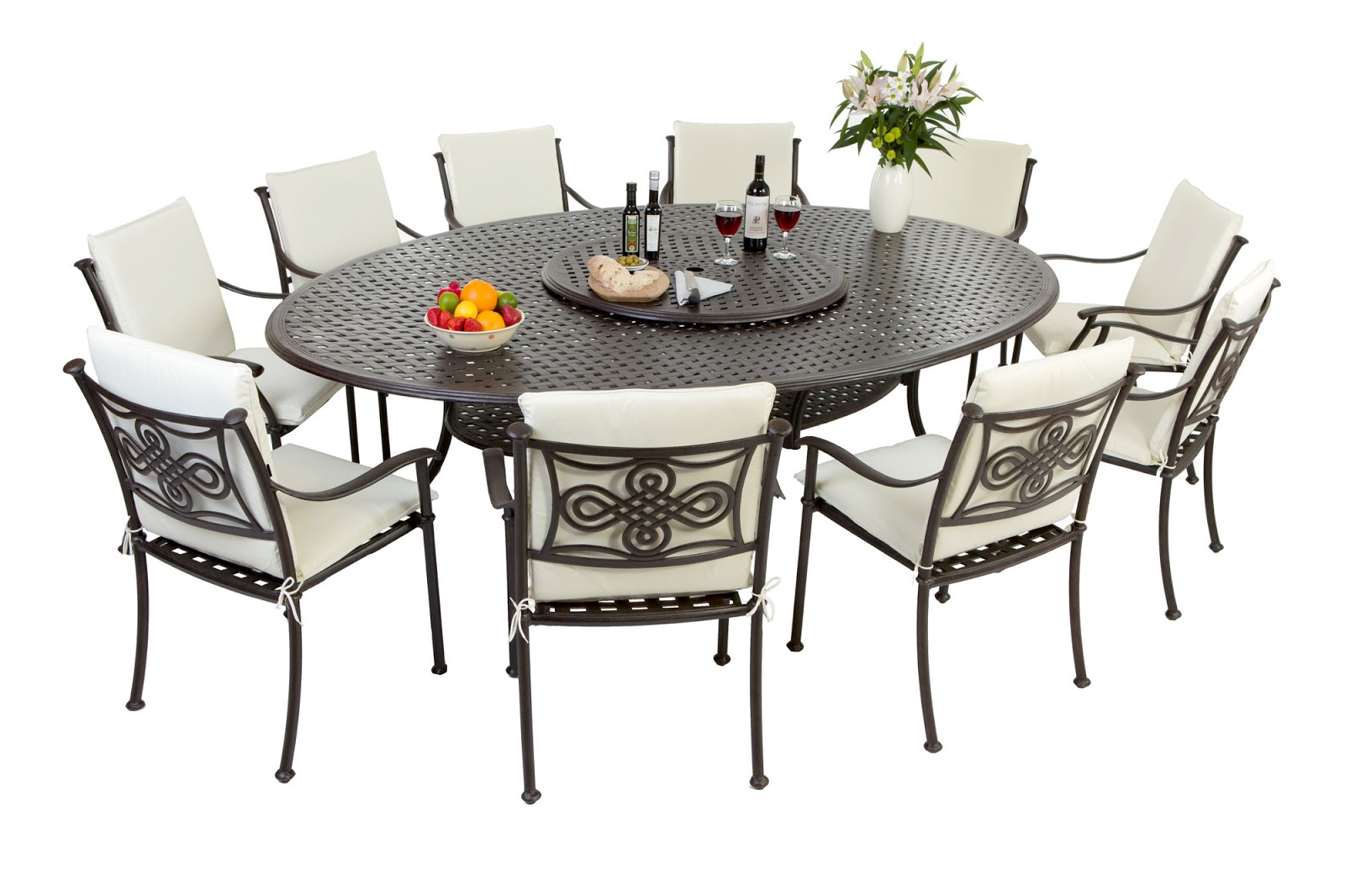 Outside edge garden furniture blog for Metal patio tables sale
