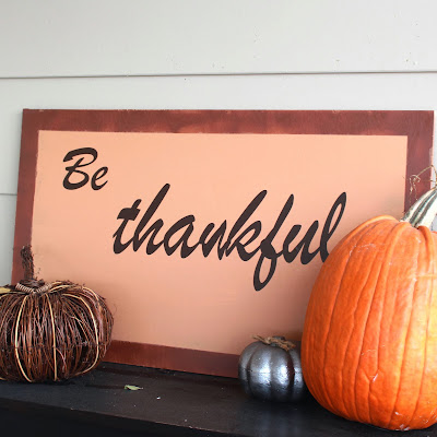 Girls in the Garden - Be thankful sign