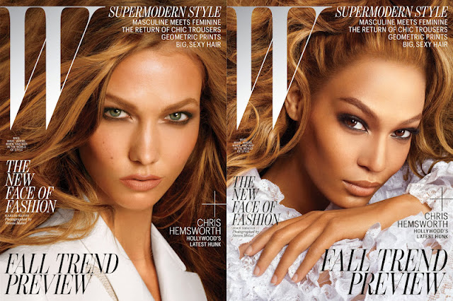 W July 2012: Joan Smalls & Karlie Kloss by Steven Meisel