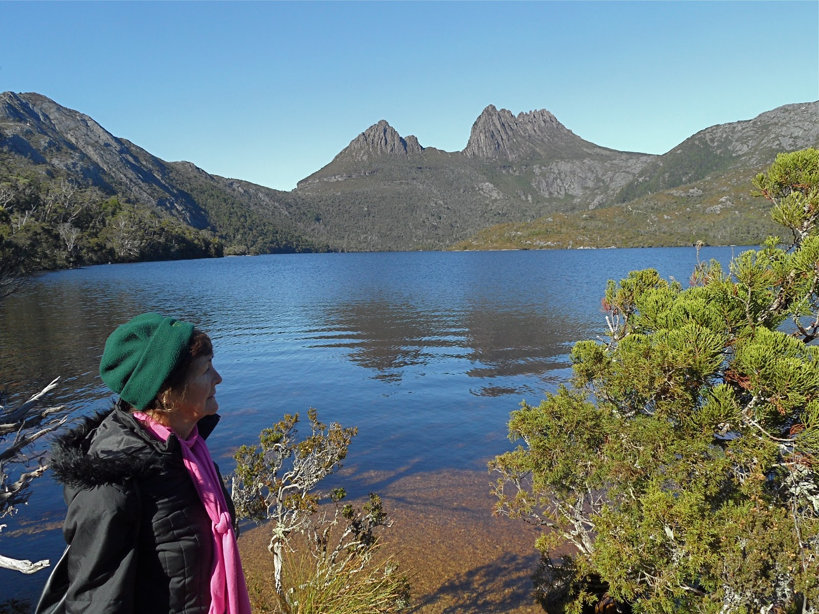 Cradle Mountain Australia  city photo : Further around and the mountain is still imposing it's presence.