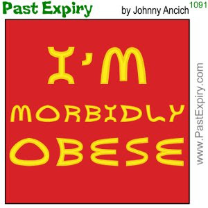 [CARTOON] McDonalds Tshirt. cartoon, advertising, food, diet, spoof