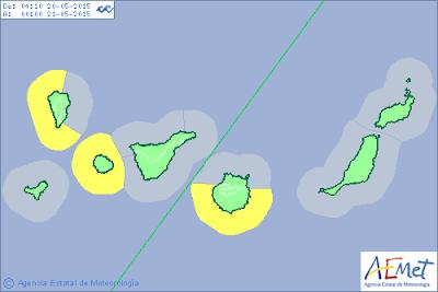 La Gomera, La Palma y Gran Canaria en aviso costero