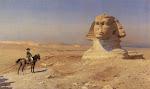 Napoleón frente la Esfinge de Gizeh