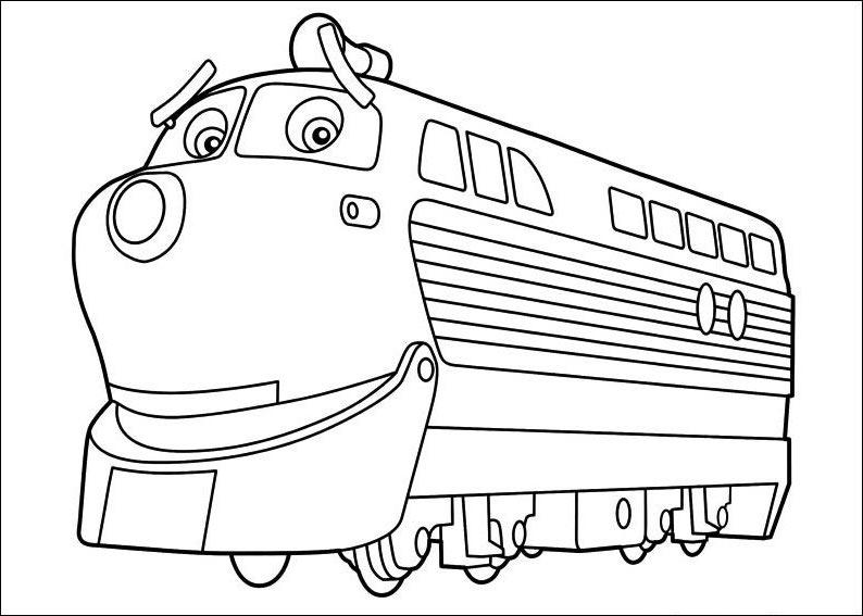 chuggington train coloring sheets