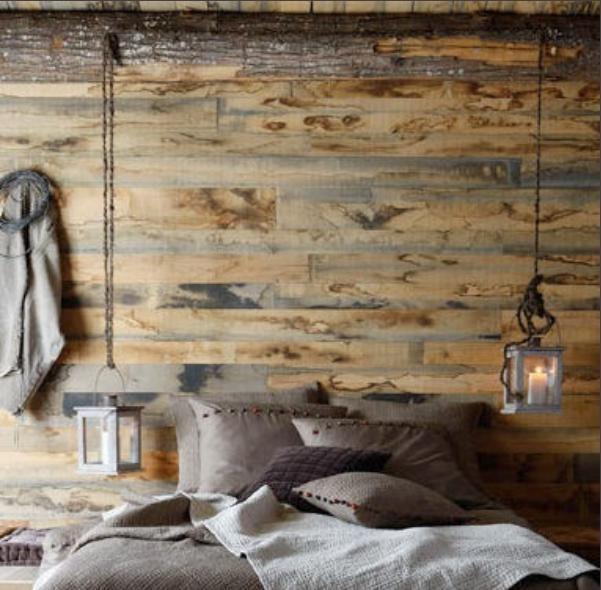 Mon petit chez moi pared de madera con tarimas recicladas for Cosas recicladas con tarimas