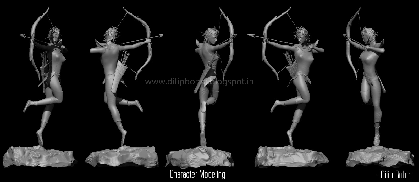 Dilip Bohra: Character modeling - Maya & Zbrush: dilipbohra.blogspot.com/2013/07/character-modeling-maya-zbrush.html