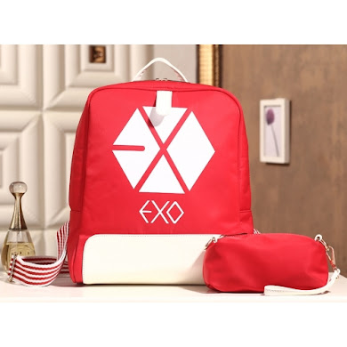 AAA K-POP EXO SERIES BACKPACK (RED)